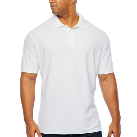 The Foundry Big & Tall Supply Co. Big and Tall Mens Short Sleeve Polo Shirt, 4x-large , White