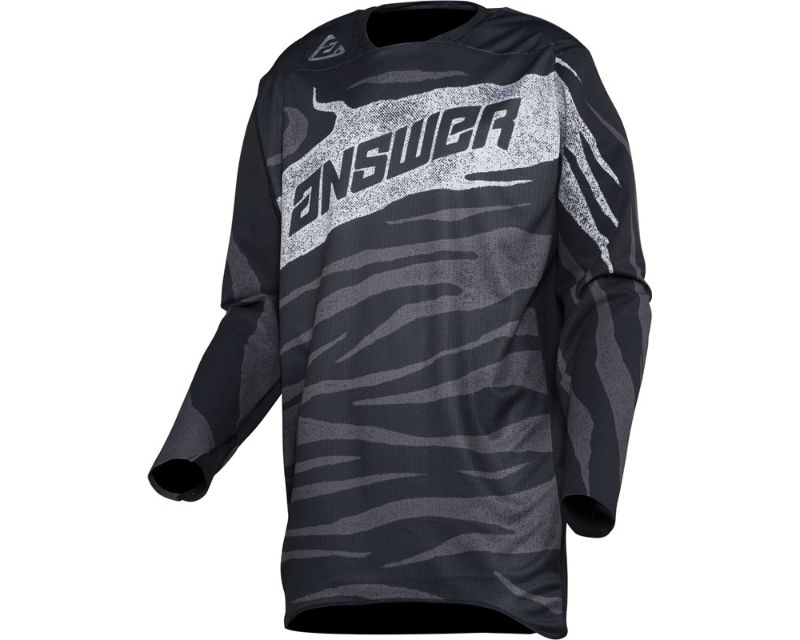 Answer 445261 Elite Ops Jersey Black Charcoal SM