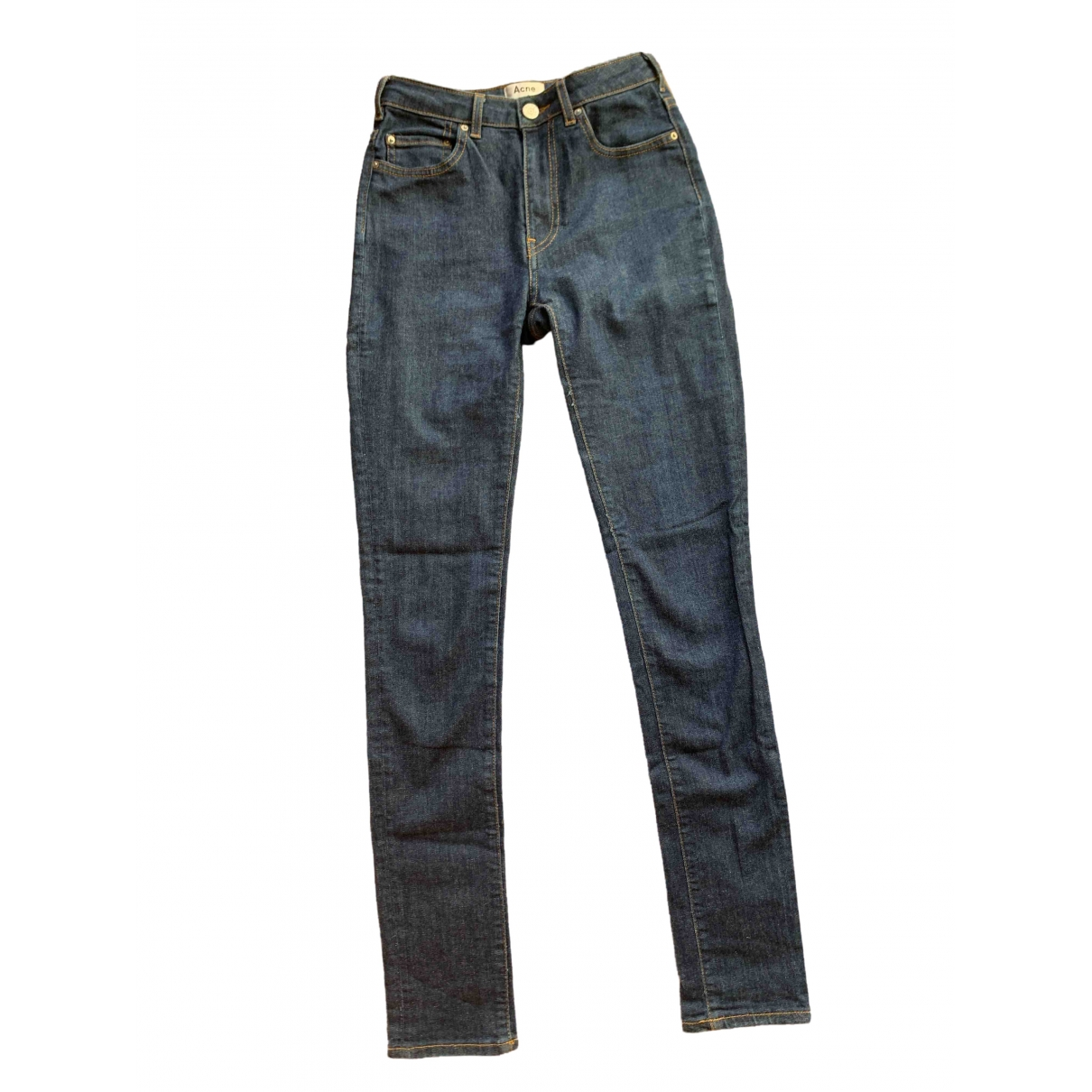 Acne Studios \N Blue Cotton - elasthane Jeans for Women 26 US