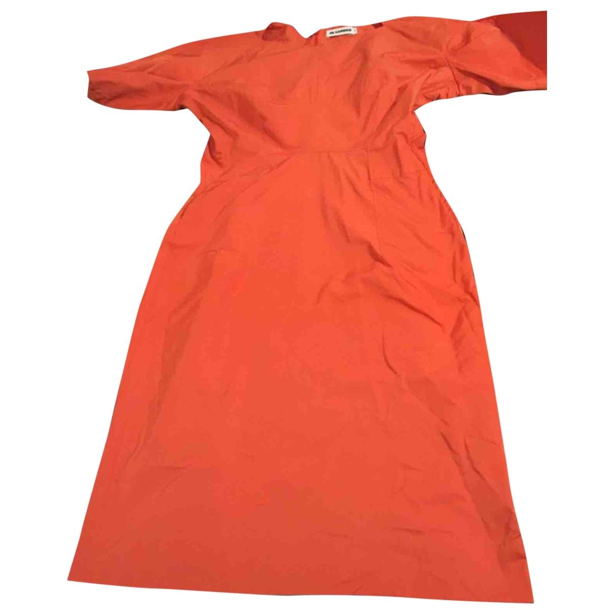 Jil Sander \N Kleid in  Rot Polyester