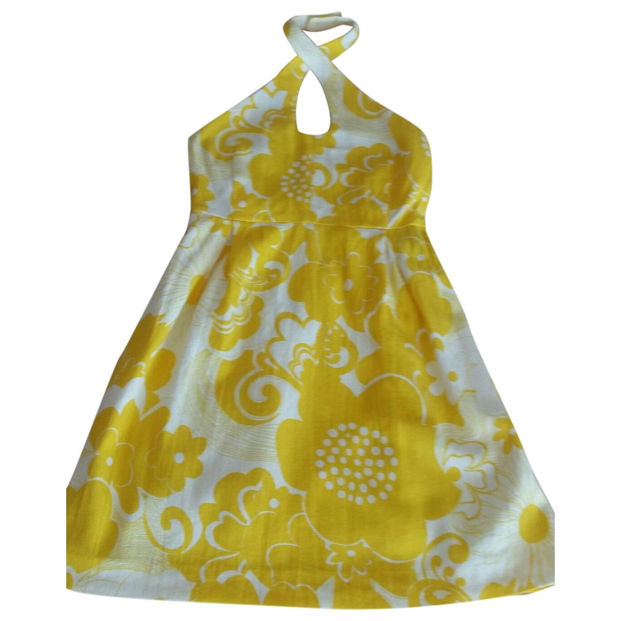 Tara Jarmon \N Kleid in  Gelb Baumwolle