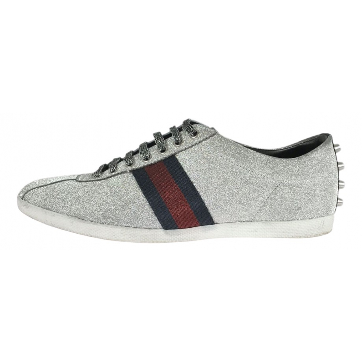 Gucci \N Sneakers in  Silber Leinen