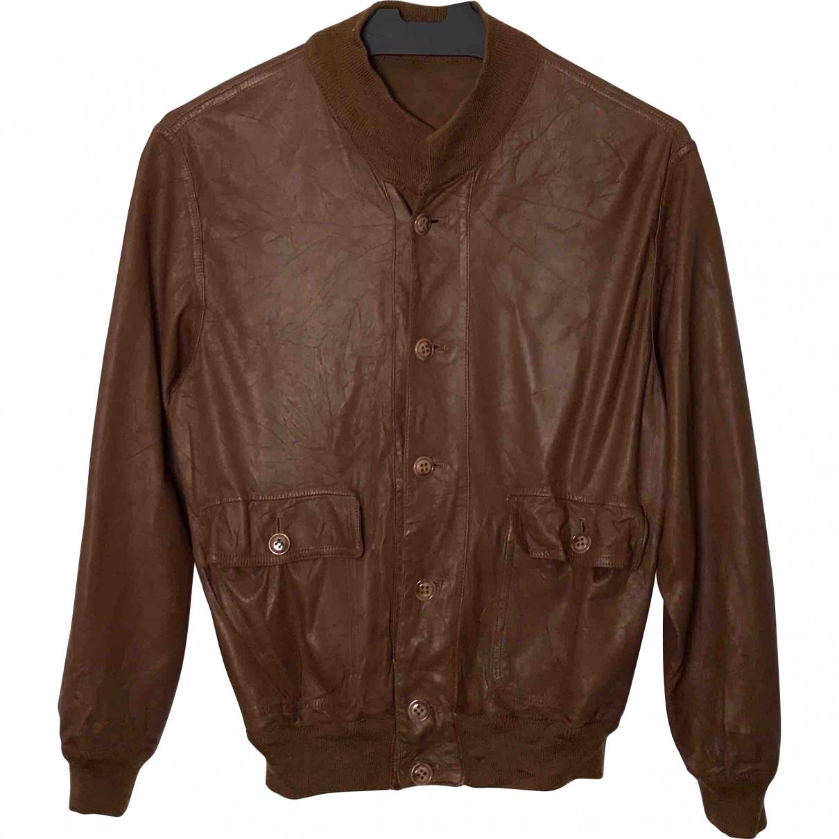 Salvatore Ferragamo \N Brown Leather jacket  for Men 48 IT