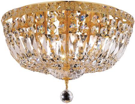 V2528F16G/EC 2528 Tranquil Collection Flush Mount D:16In H:10In Lt:6 Gold Finish (Elegant Cut