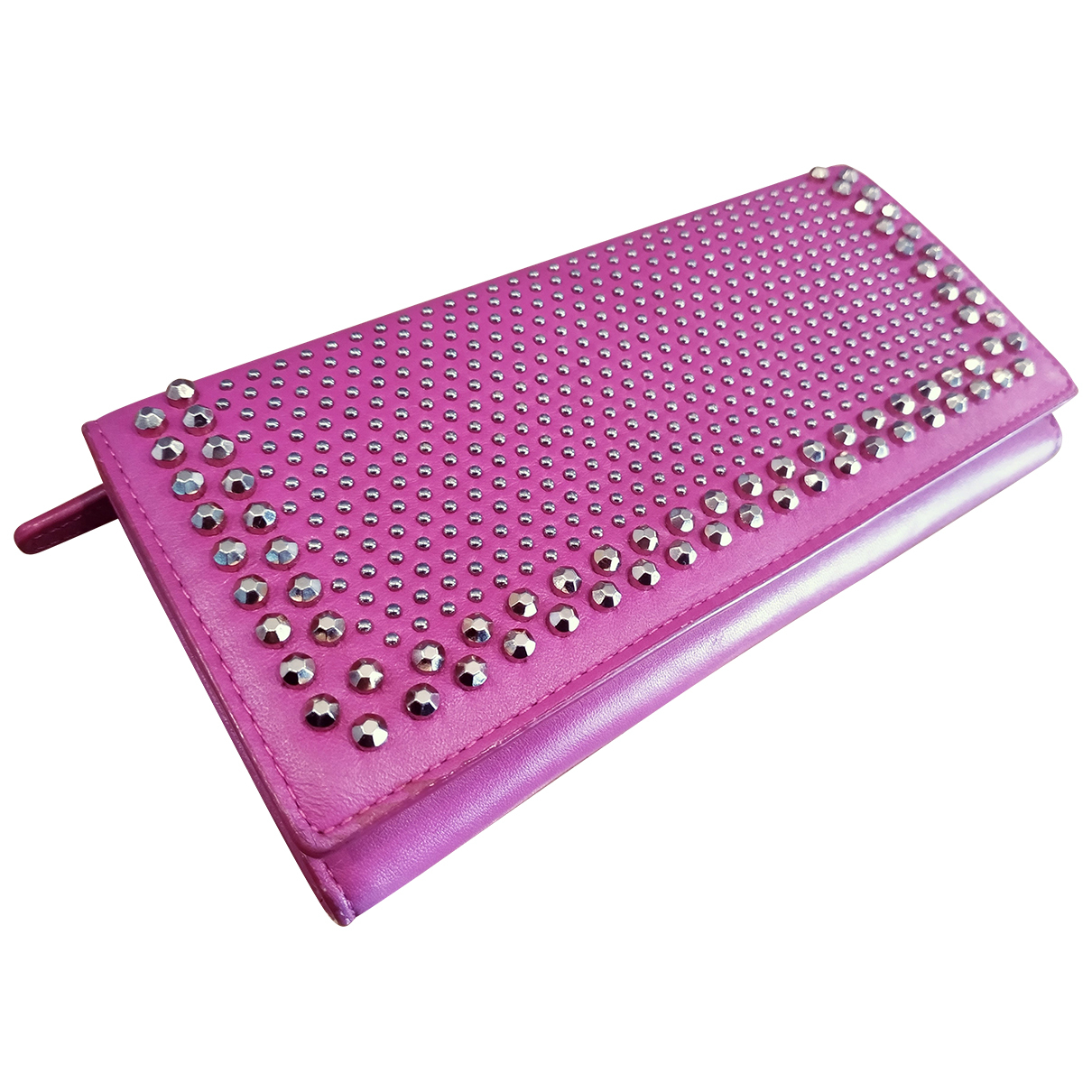Mcm - Portefeuille   pour femme en cuir - rose