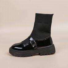 Botas calcetines con hebilla