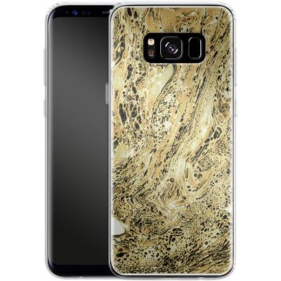 Samsung Galaxy S8 Silikon Handyhuelle - Marbled Sand von Amy Sia