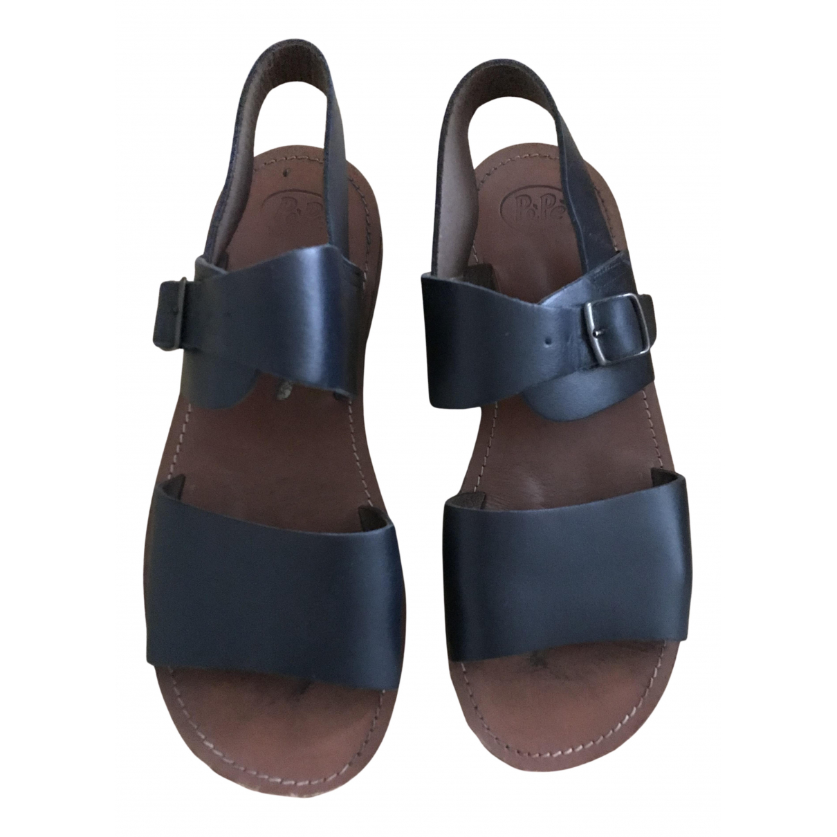 Pepe Children Shoes - Sandales   pour femme en cuir - noir