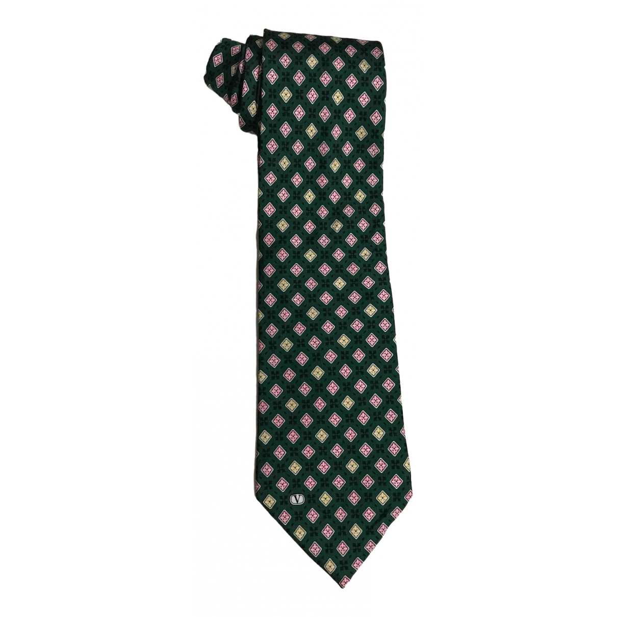 Valentino Garavani \N Green Silk Ties for Men \N