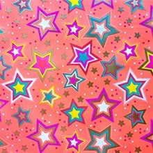 Starry Neon Gift Wrap - 24 X 417' - Gift Wrapping Paper by Paper Mart