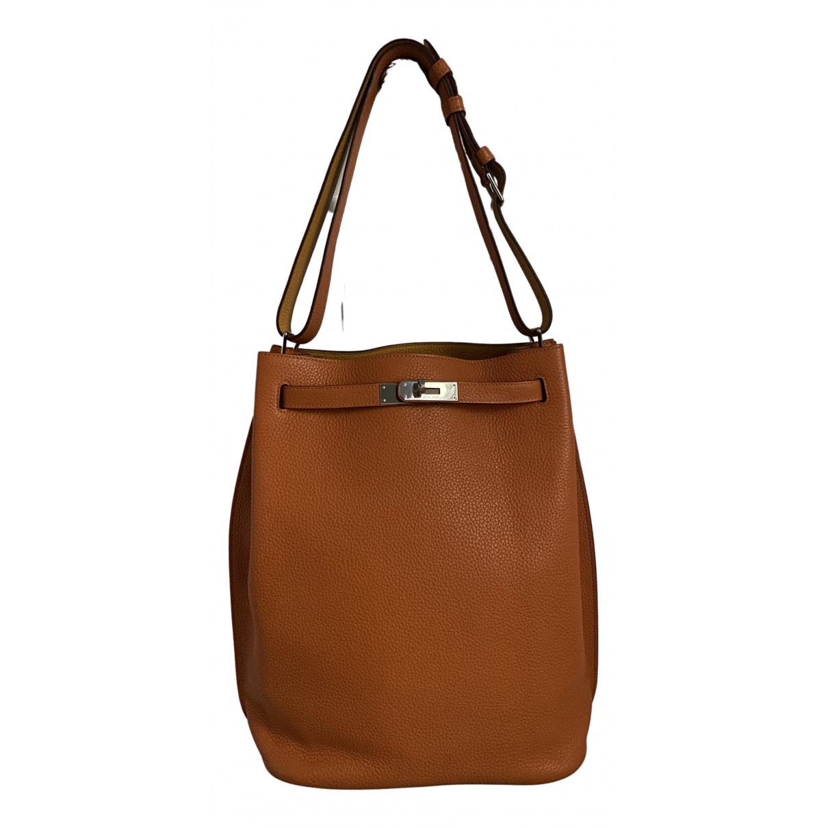 Hermès So Kelly Orange Leather handbag for Women \N