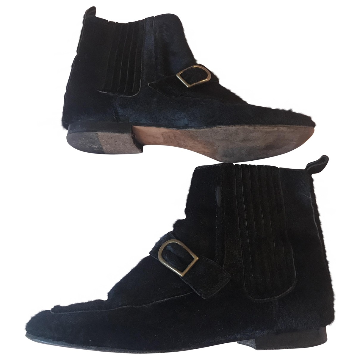 Isabel Marant \N Black Pony-style calfskin Ankle boots for Women 37 EU