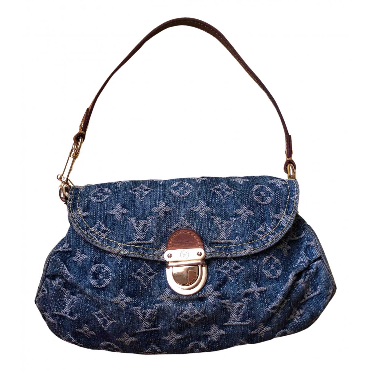 Louis Vuitton - Sac a main Pleaty pour femme en denim - bleu