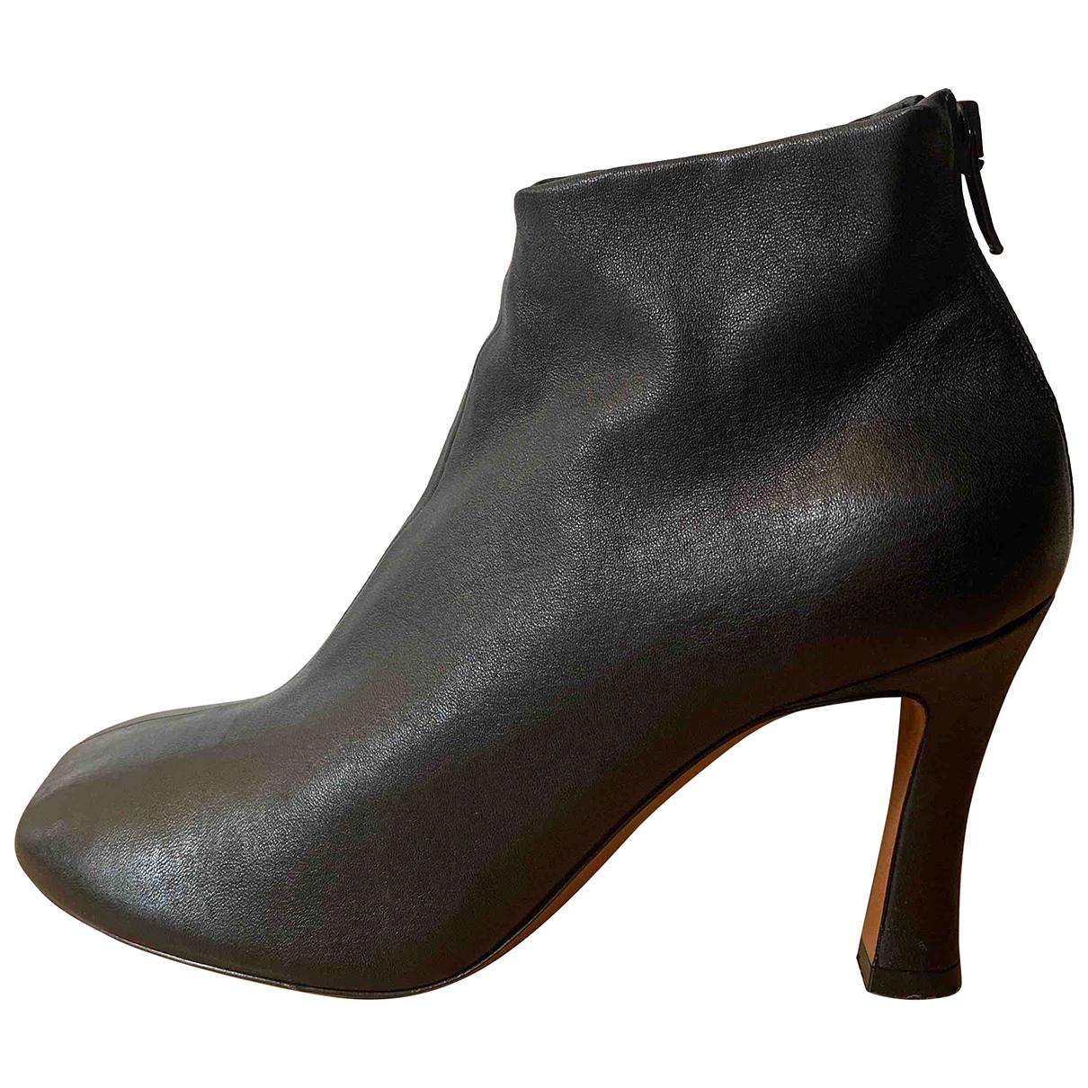 Celine - Bottes   pour femme en cuir - noir