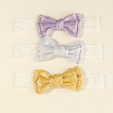 3pcs Baby Bow Decor Headband