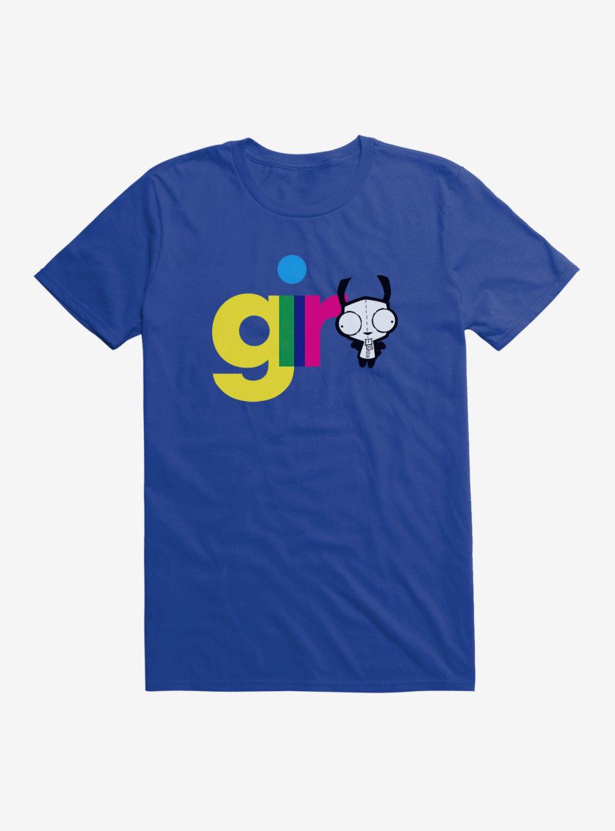 Invader Zim Gir Neon Script T-Shirt