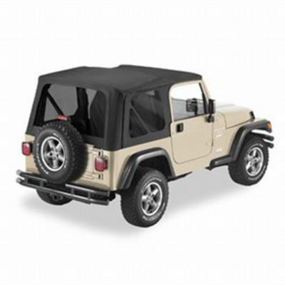 Pavement Ends The Replay Soft Top with Clear Windows and No Upper Doorskins (Black Denim) - 51198-15