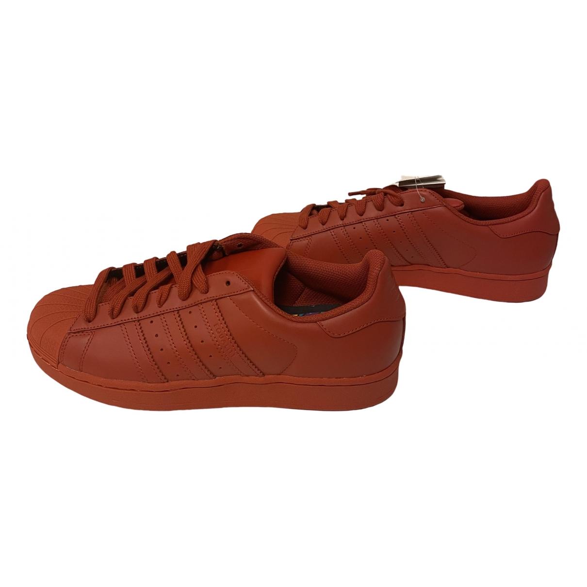 Adidas X Pharrell Williams \N Sneakers in  Orange Leder