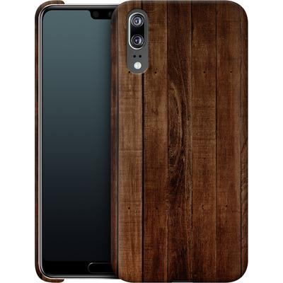 Huawei P20 Smartphone Huelle - Dark Wood Floor von caseable Designs