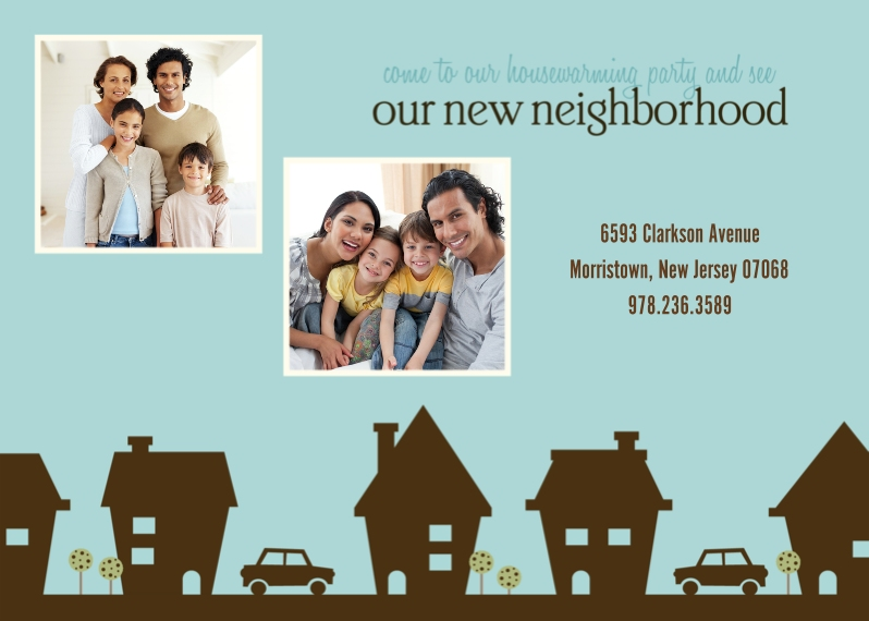 Moving 5x7 Cards, Premium Cardstock 120lb with Elegant Corners, Card & Stationery -New Neighborhood