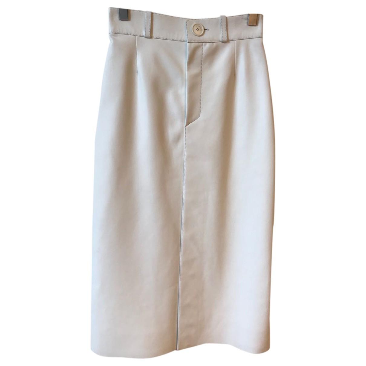 Balenciaga N White Leather skirt for Women 36 FR