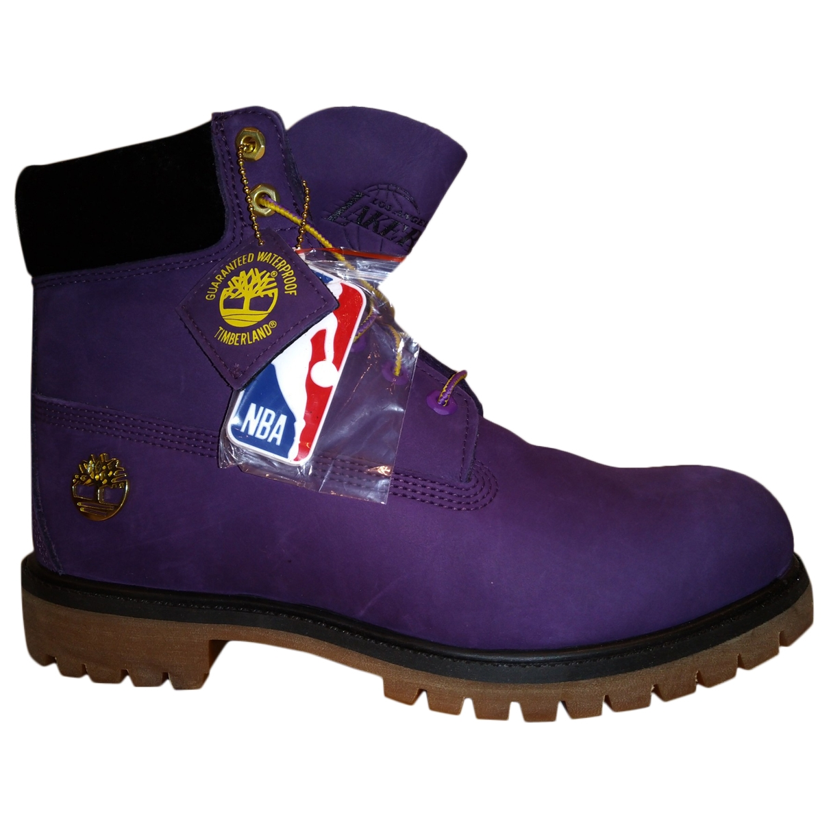 Timberland \N Purple Leather Boots for Men 10 US