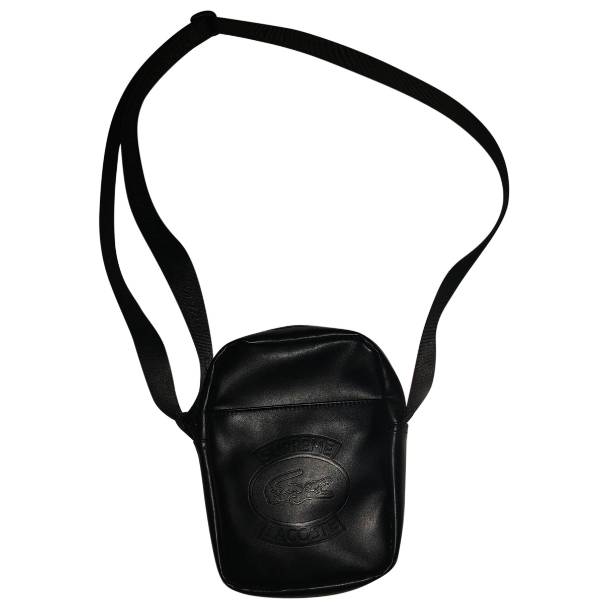 Lacoste X Supreme - Petite maroquinerie   pour homme en cuir - noir