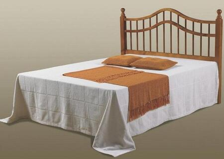 710-FH Full or Queen Bed Headboard with Double Rail  Slat Style and Turned Post in