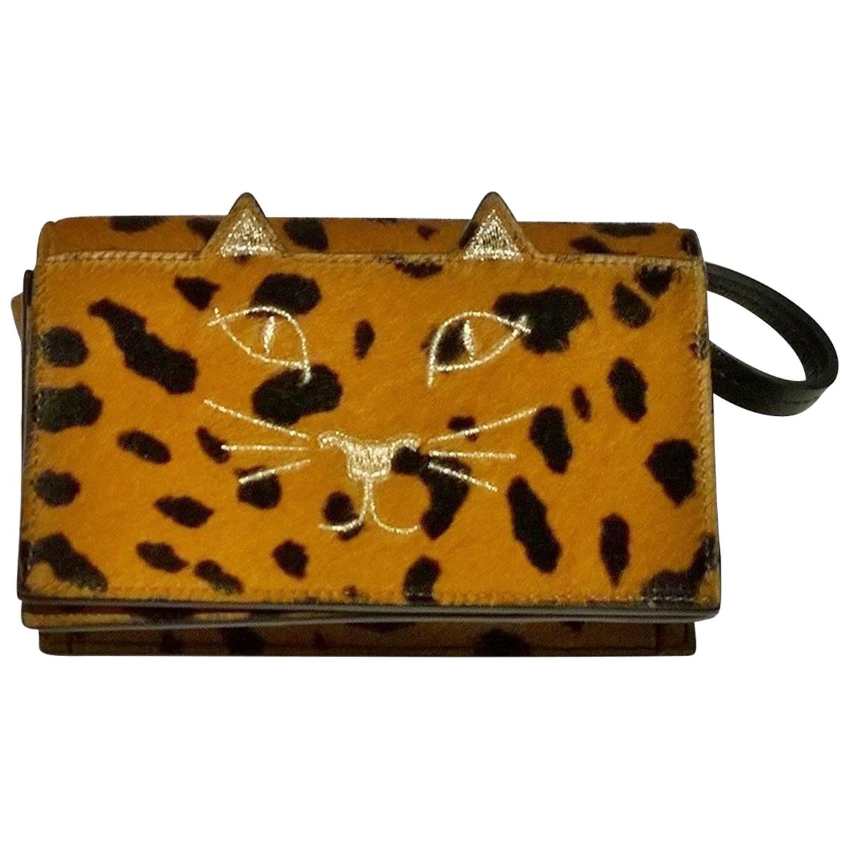 Charlotte Olympia \N Brown Pony-style calfskin handbag for Women \N