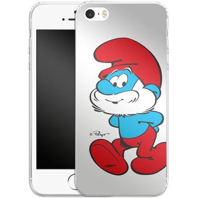 Apple iPhone 5 Silikon Handyhuelle - Papa Smurf von The Smurfs