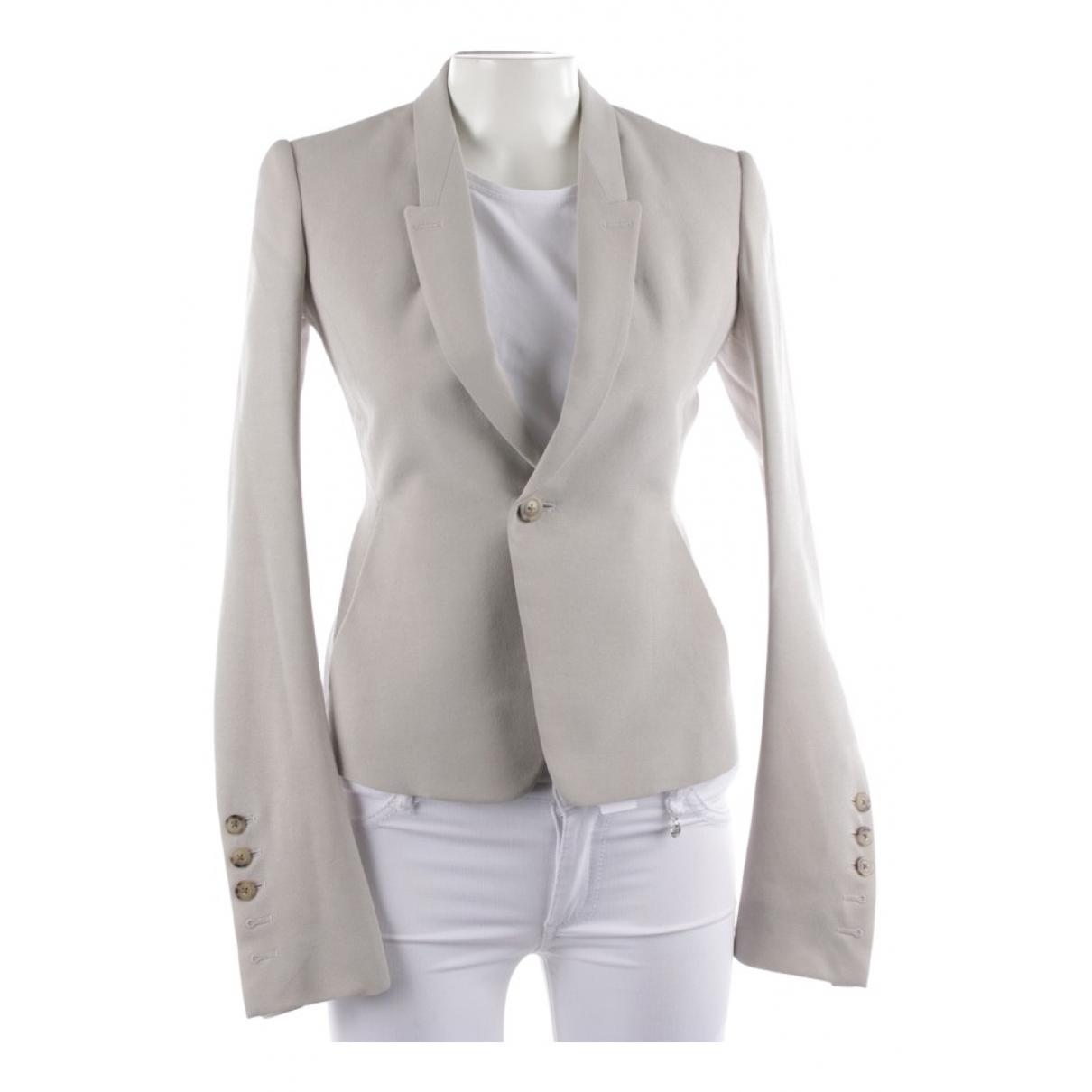 Rick Owens - Veste   pour femme en laine - beige