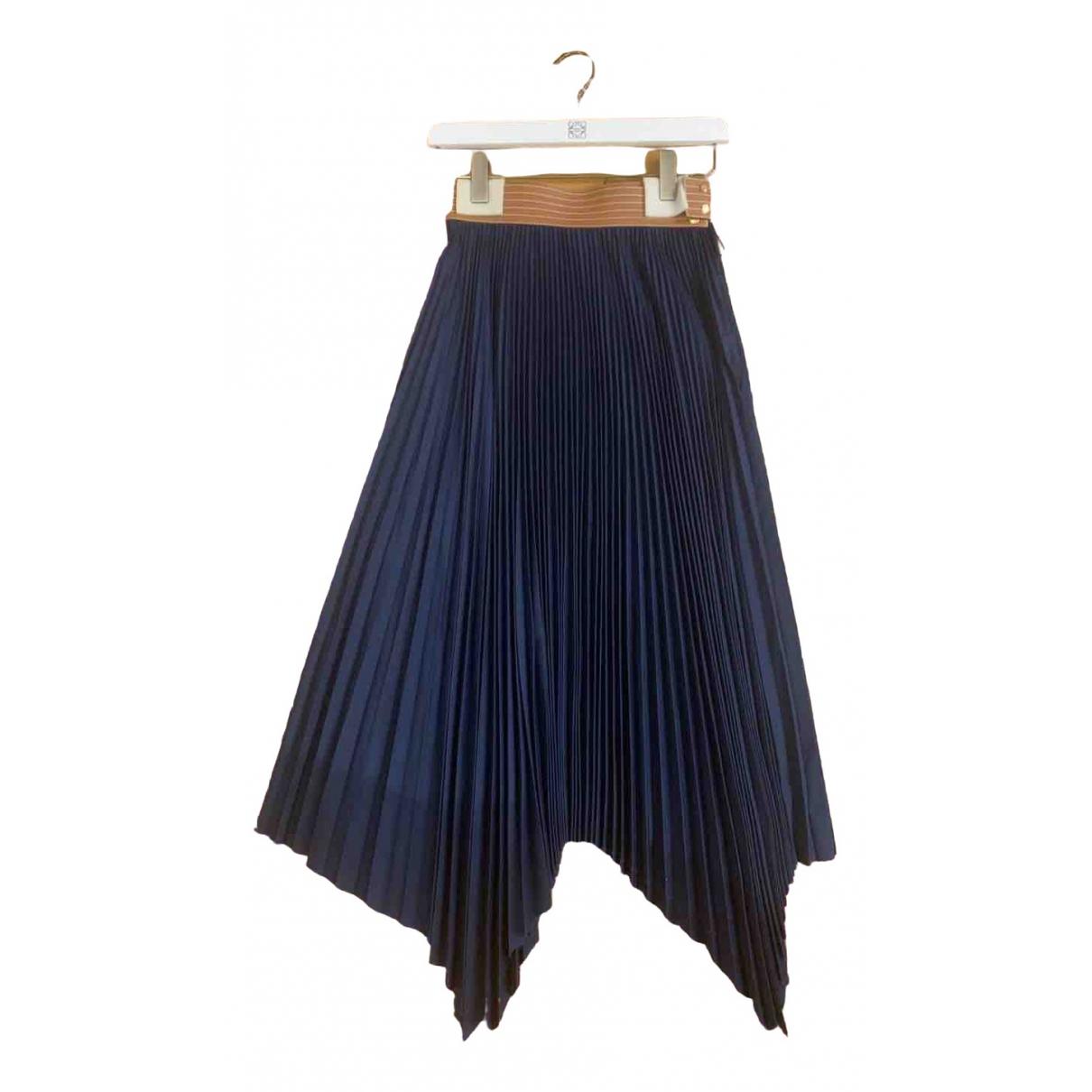 Loewe N Navy Cotton skirt for Women 36 FR