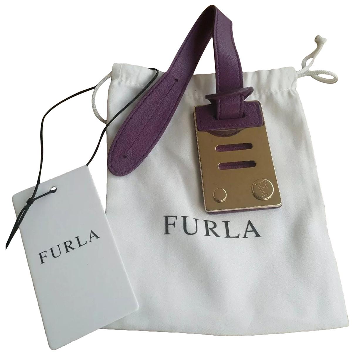 Furla - Petite maroquinerie   pour femme en cuir - violet