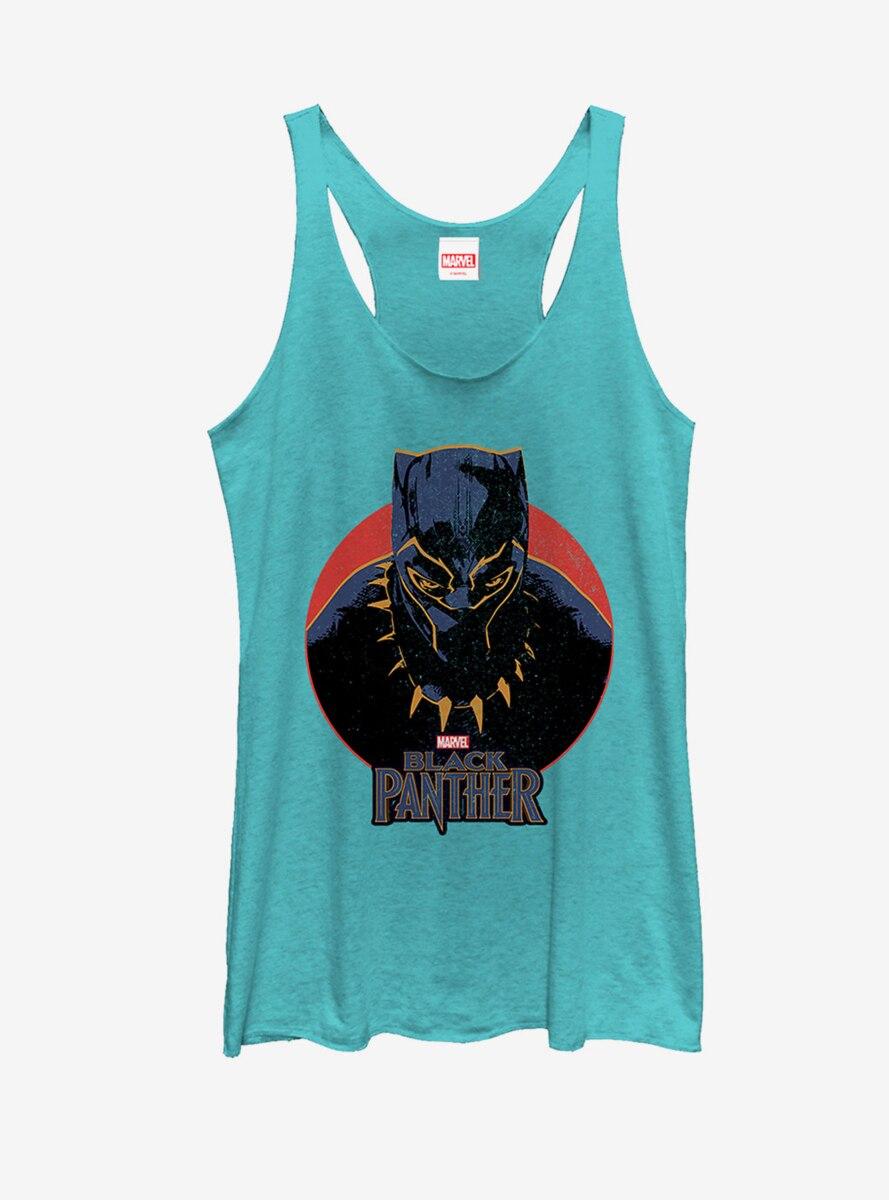 Marvel Black Panther Retro Circle Womens Tank Top