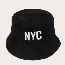 Men Letter Embroidery Bucket Hat