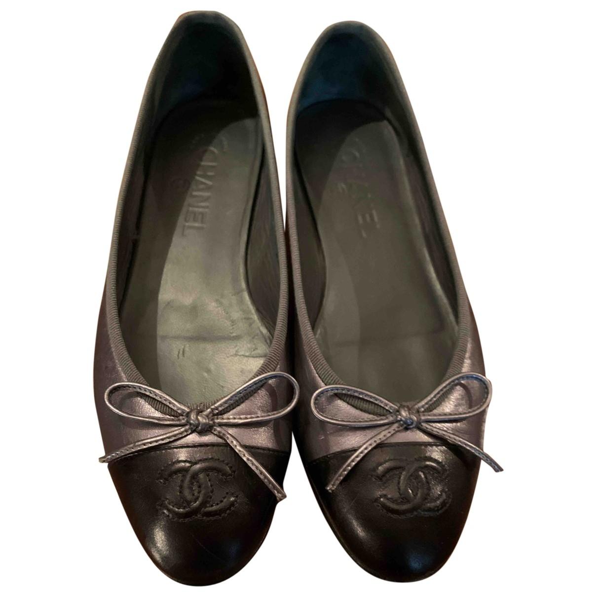 Chanel \N Metallic Leather Ballet flats for Women 37.5 EU