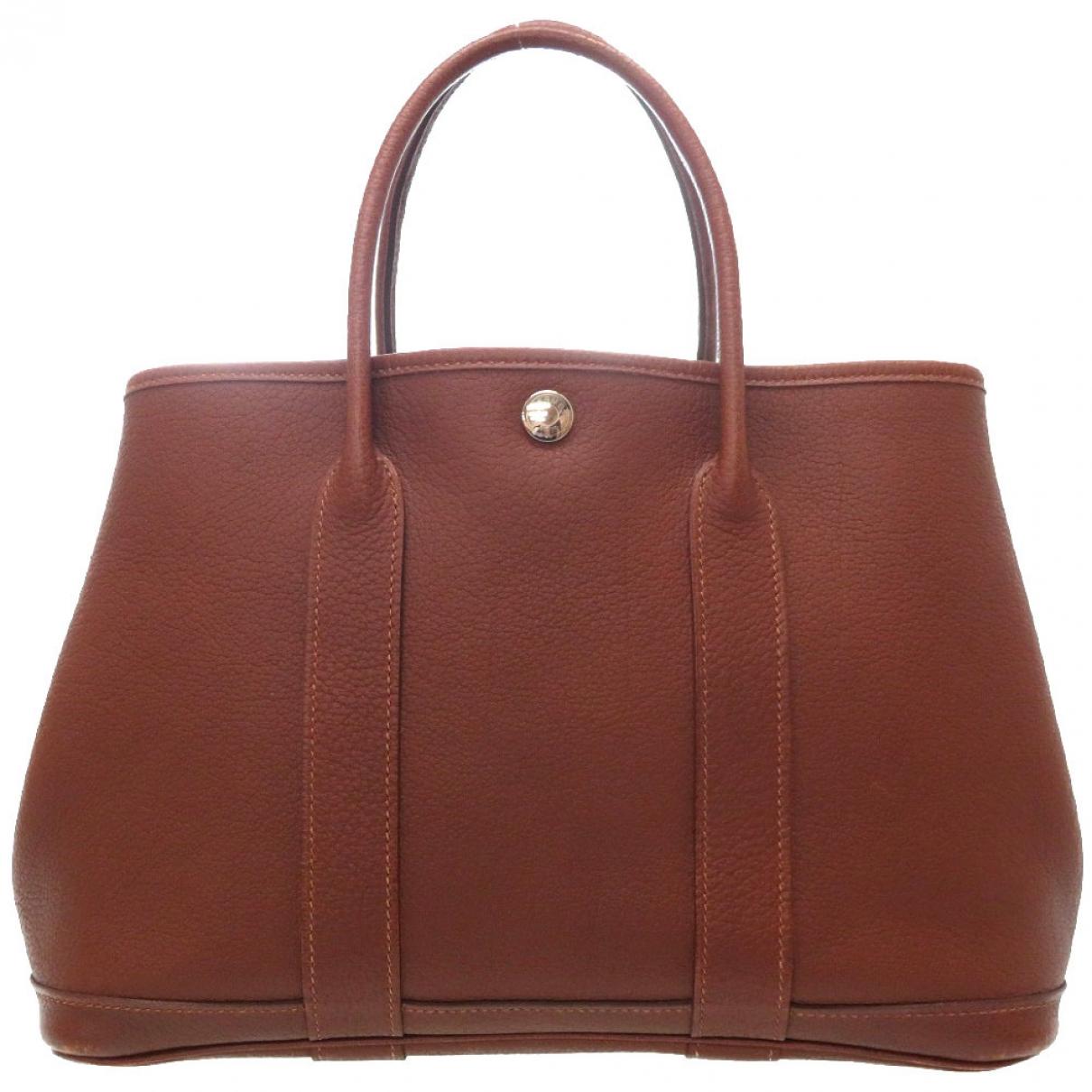 Hermès Garden Party Brown Leather handbag for Women \N