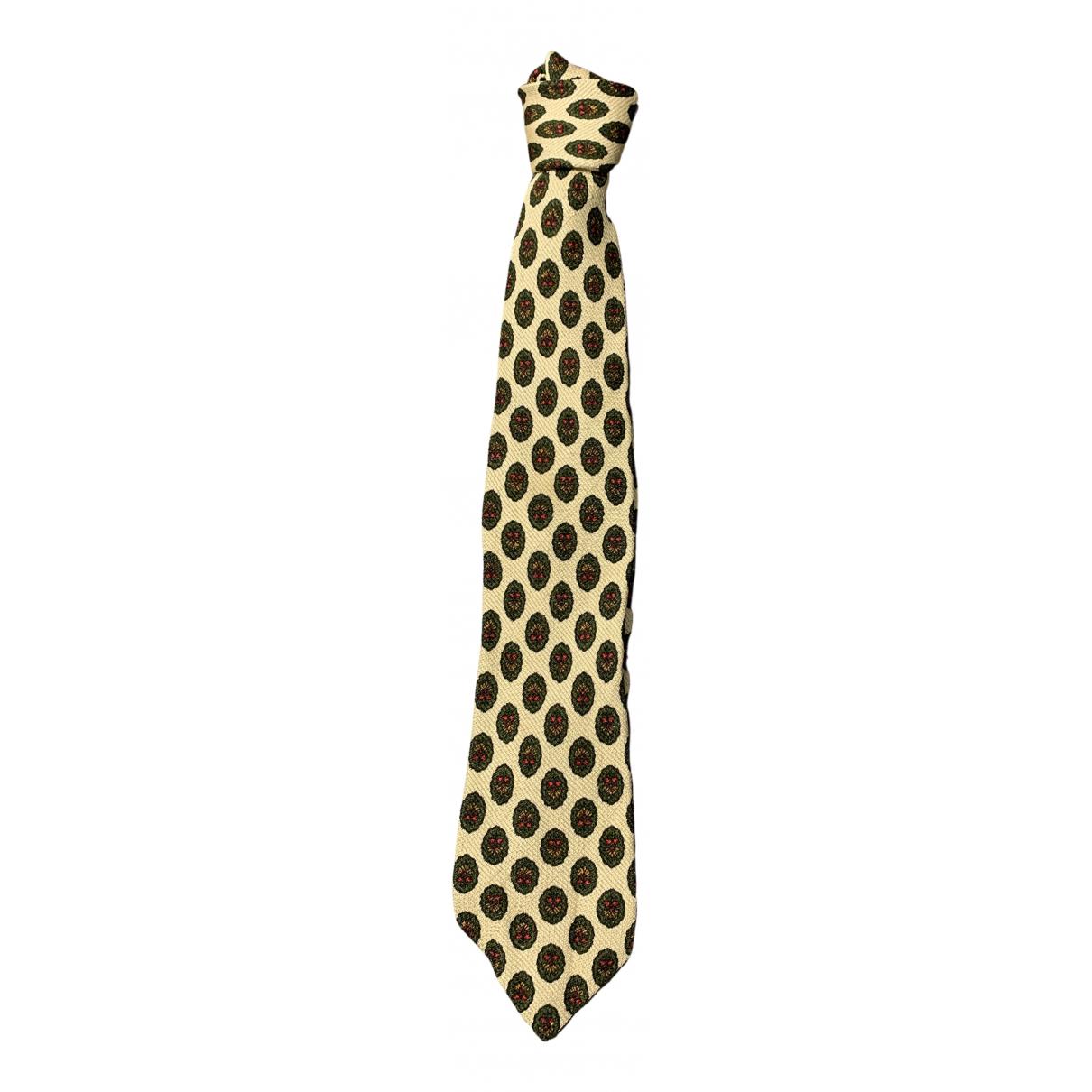 - Cravates   pour homme en soie - beige