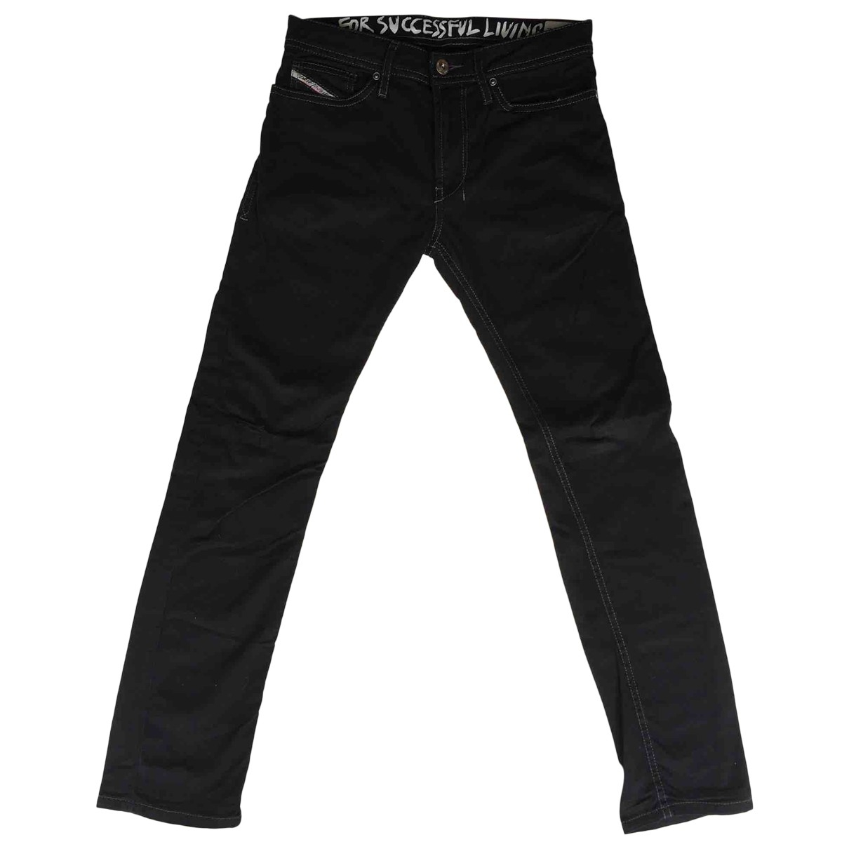 Diesel \N Black Cotton Trousers for Kids 10 years - up to 142cm FR