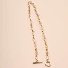 Circle Bar Chain Necklace