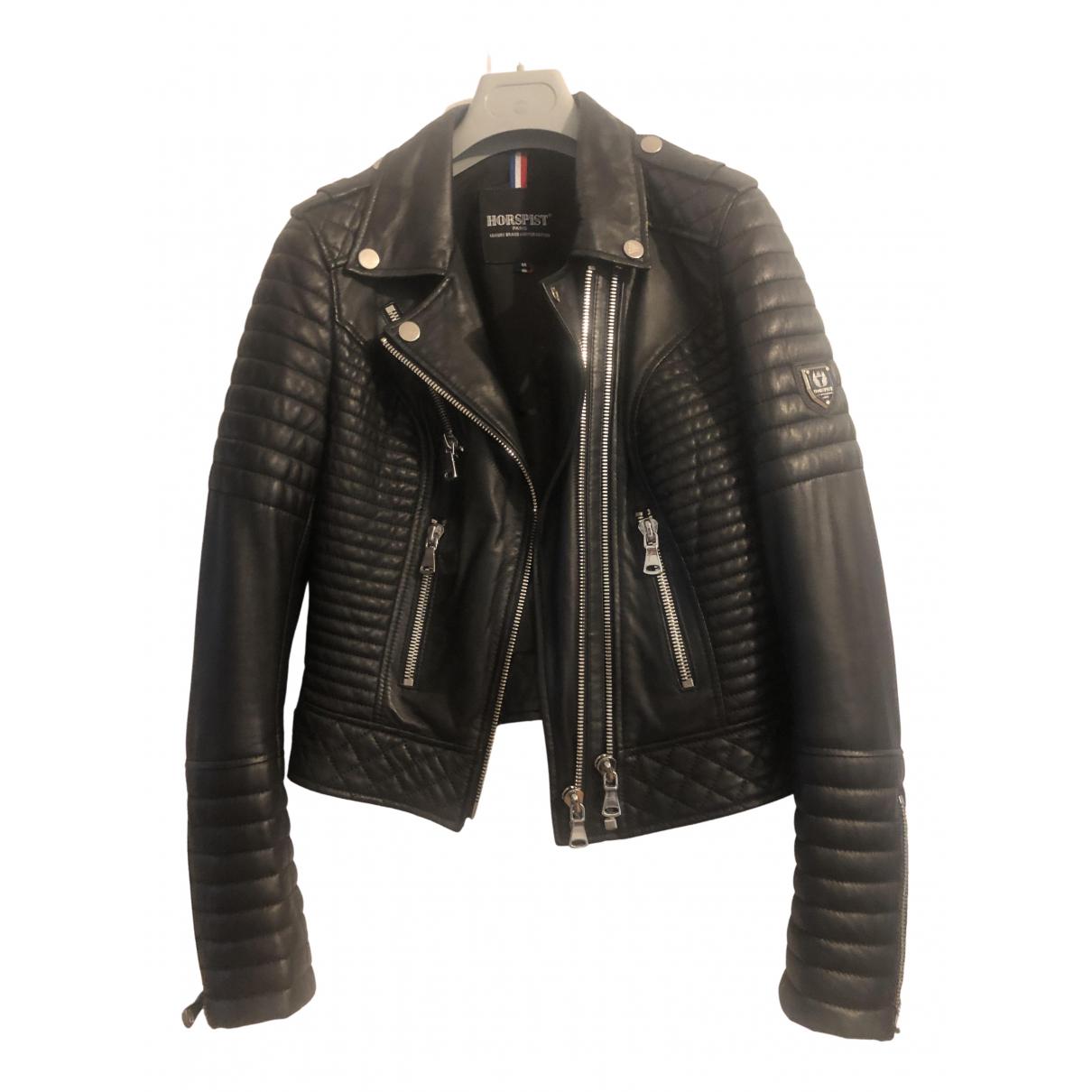 Horpist - Veste   pour femme en cuir - noir