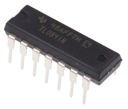 Texas Instruments TL084IN , Op Amp, 3MHz, 14-Pin PDIP (25)
