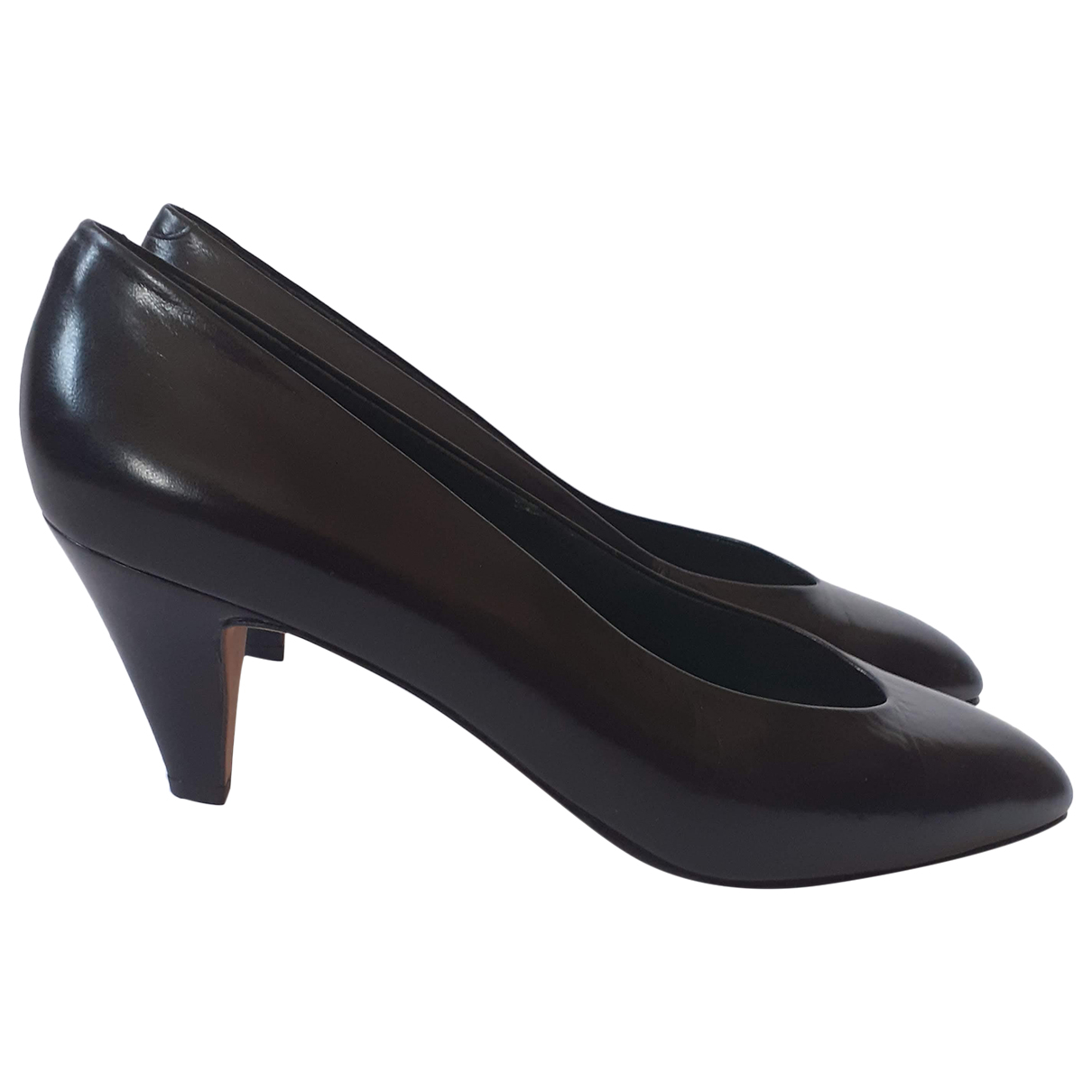 Gucci \N Black Leather Heels for Women 41 IT