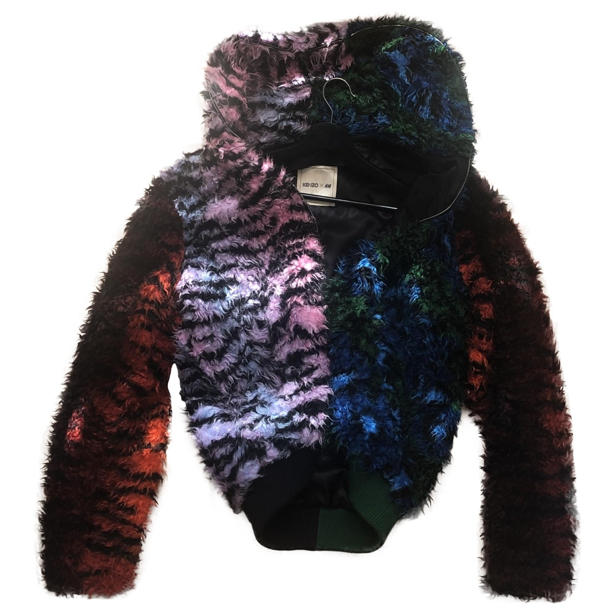 Kenzo X H&m \N Multicolour Faux fur jacket for Women L International