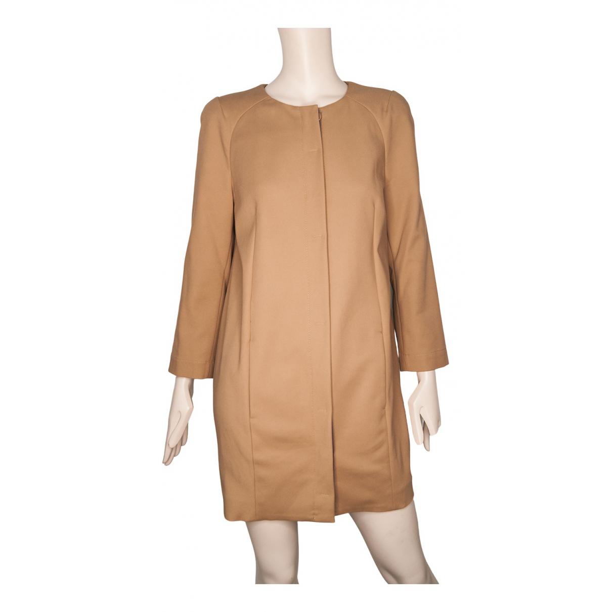 Patrizia Pepe \N Camel Cotton coat for Women 44 IT