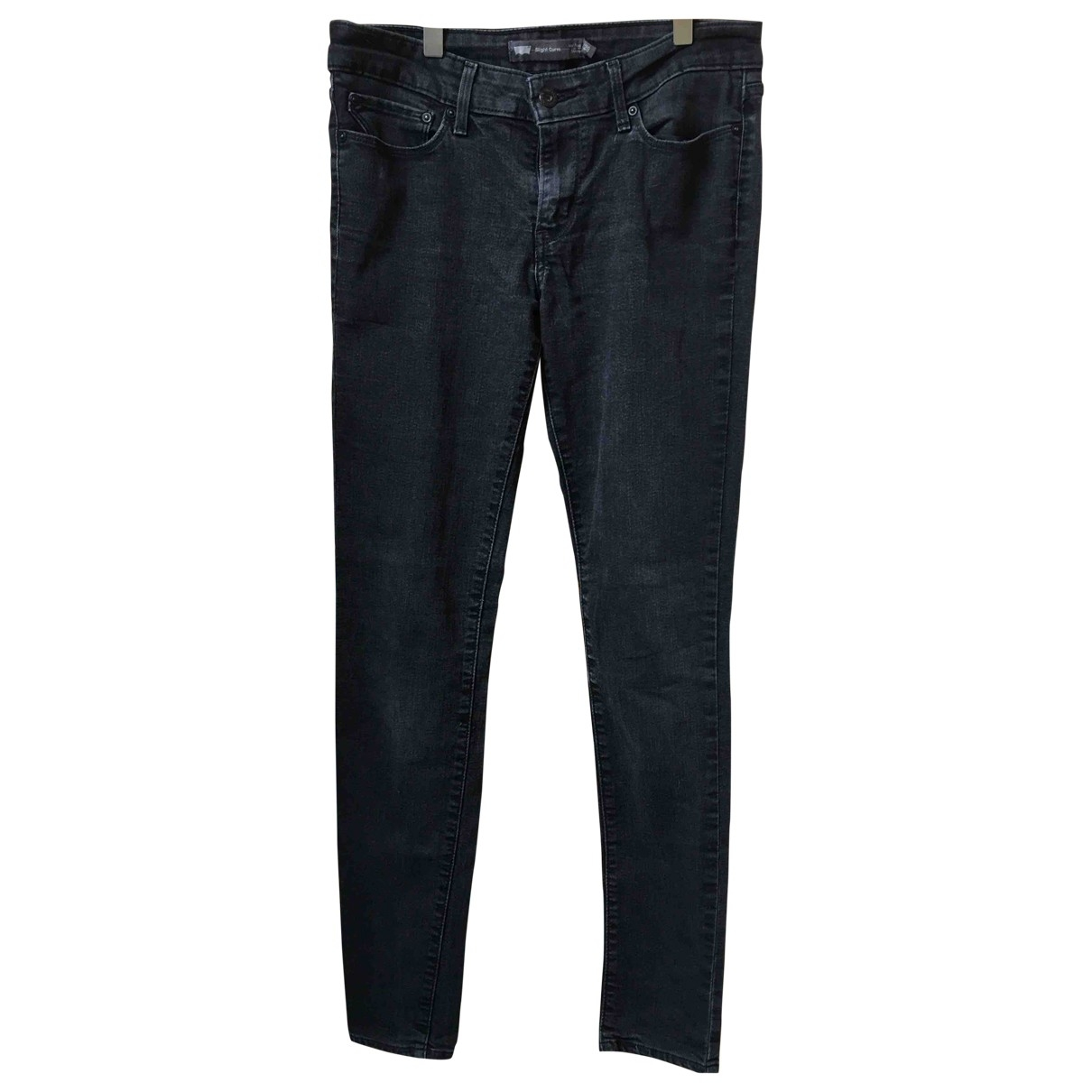 Levi's \N Grey Cotton Jeans for Women 28 US