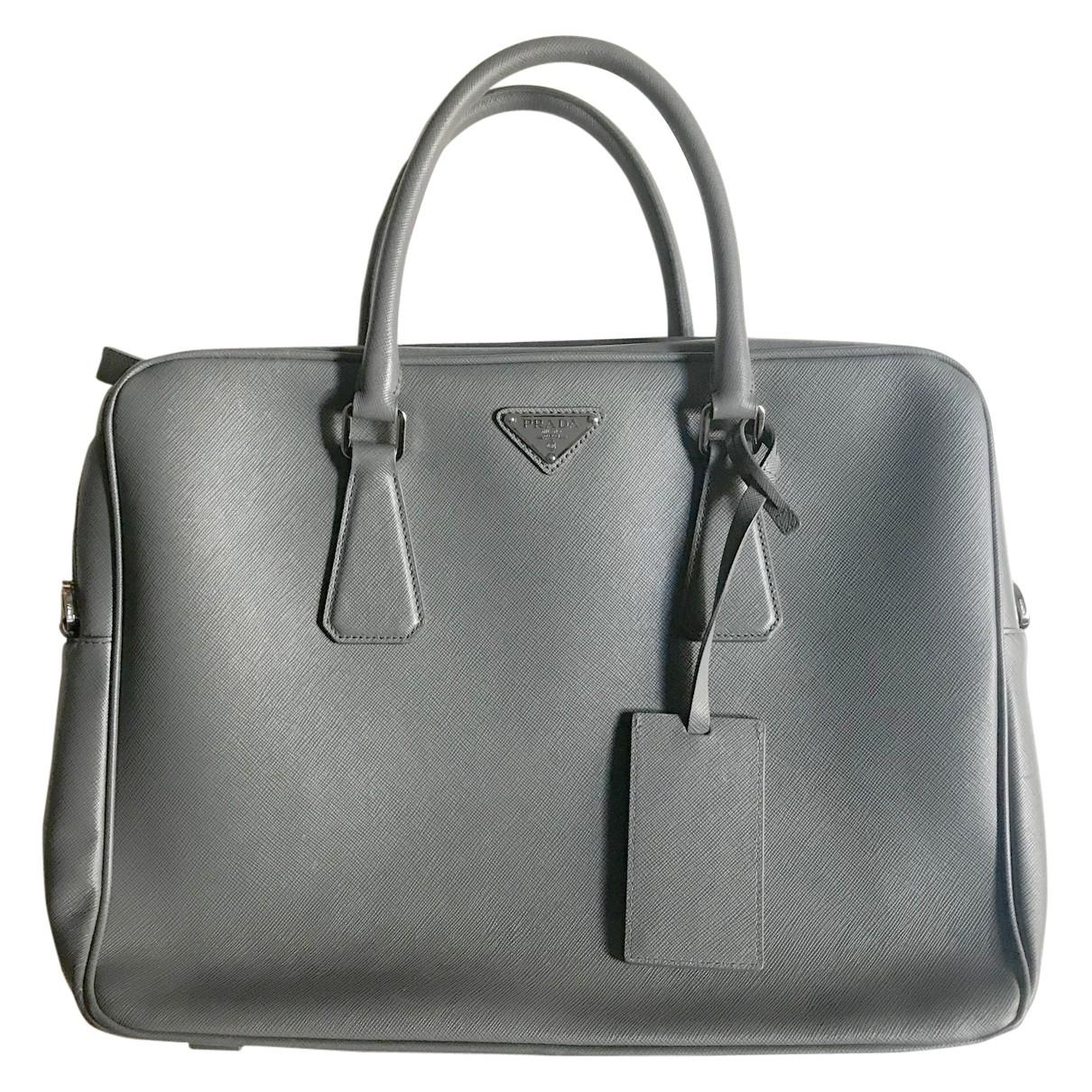Prada N Anthracite Leather bag for Men N