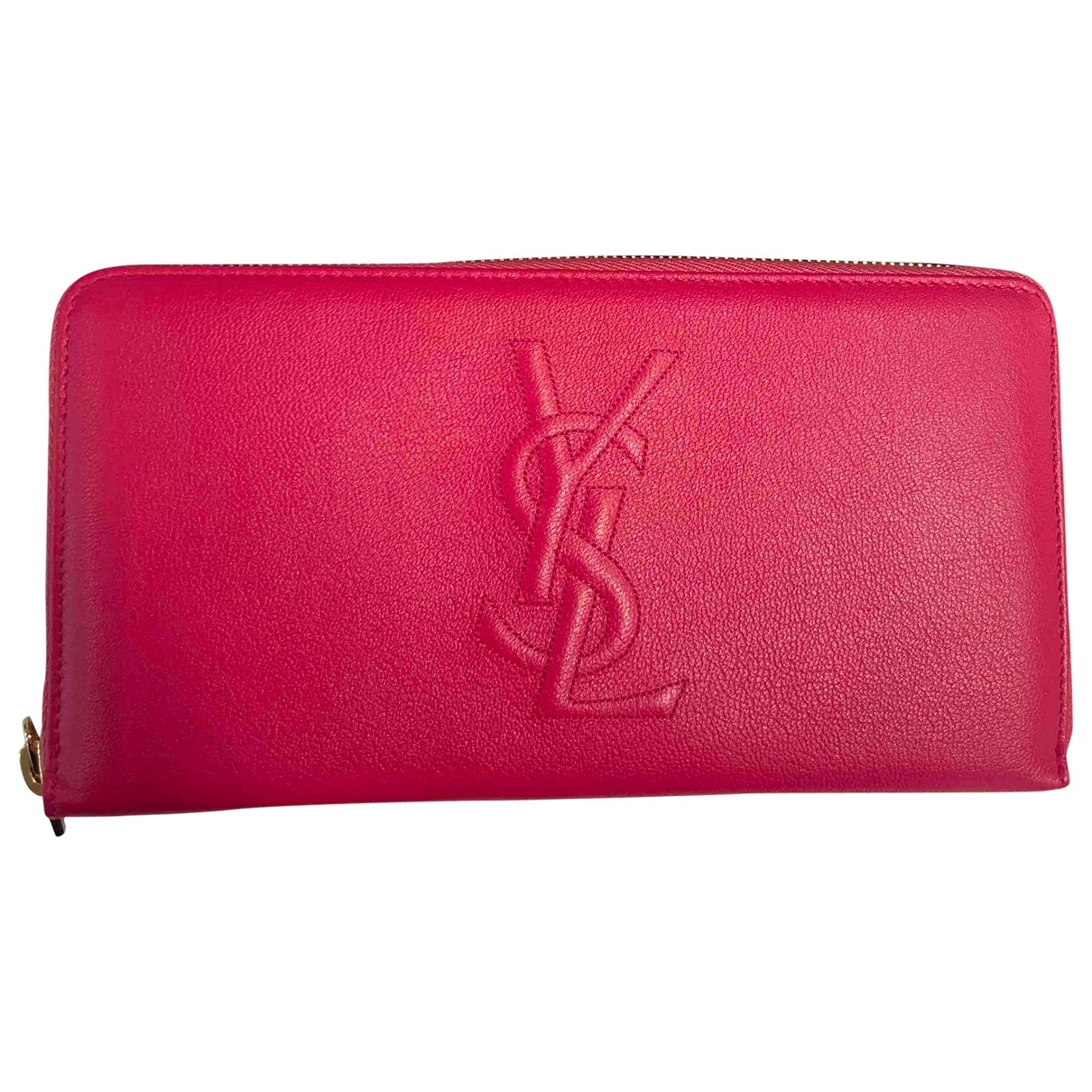 Yves Saint Laurent - Portefeuille Belle de Jour pour femme en cuir - rose