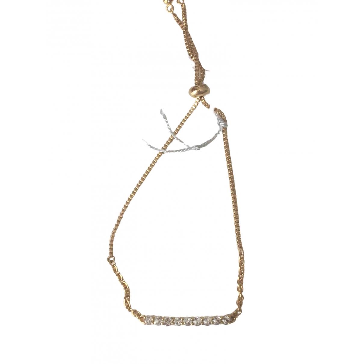 - Bracelet   pour femme en cristal - dore