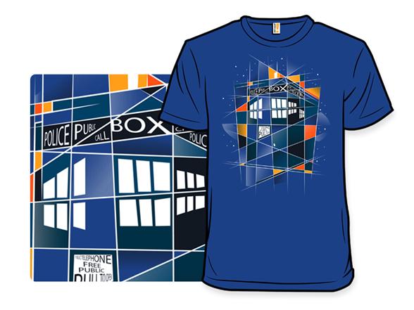 Call Box In Blue T Shirt